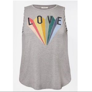 Maurices Plus Size Rainbow Love Graphic Tank Top